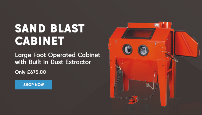 Foot Operated Sand Blaster Cabinet Promo